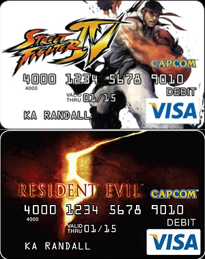 Capcom prepaid Visa cards