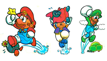 Mario, Toad, and Luigi