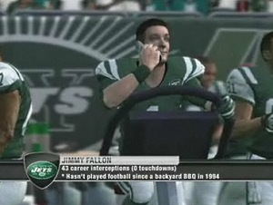 Jimmy Fallon in Madden NFL 10
