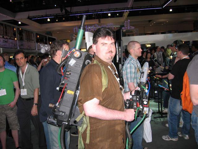 MattG wears a proton pack
