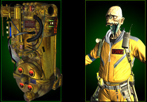 Golden proton pack and ghoul