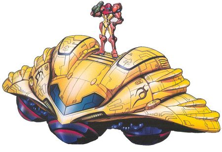 Samus and her gunship