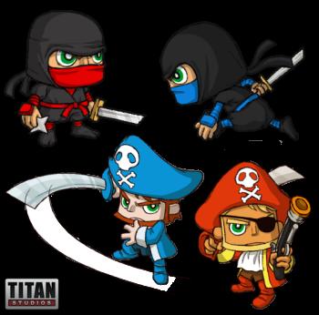 Fat Princess Pirates and Ninjas