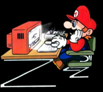 Mario at his PC