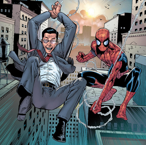 Stephen Colbert and Spider-Man