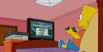 bart simpson playing video games