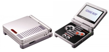NES Classic Game Boy Advance SP