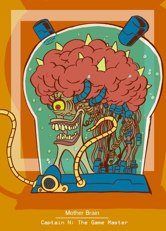 Captain N Mother Brain by kevinbolk