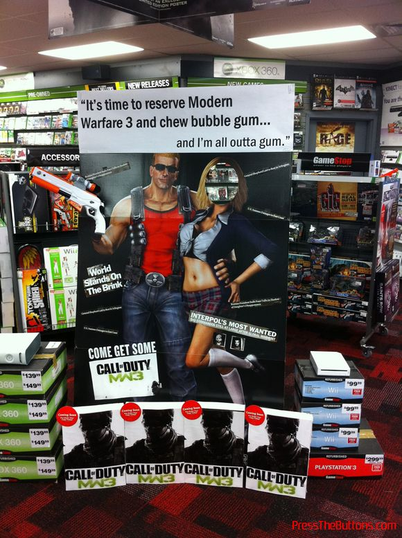 Duke Nukem promotes Modern Warfare 3