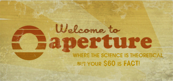 Aperture Science sign