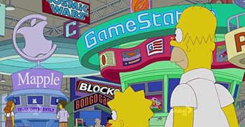 The Simpsons go to E4