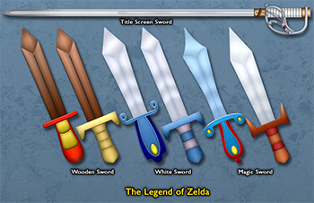 Press The Buttons The Legend Of Links Sword Collection