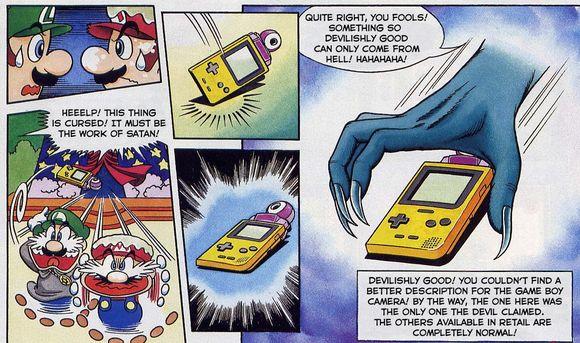 Satan steals a Game Boy camera