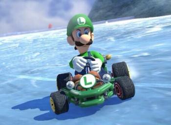 Evil Luigi in Mario Kart 8