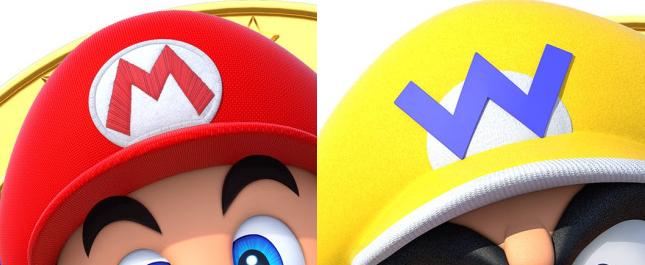 Mario and Wario hats