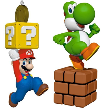 Mario and Yoshi Hallmark ornaments