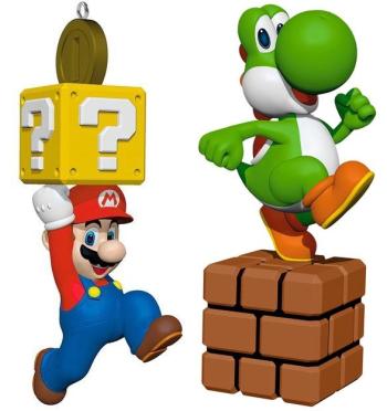 Mario and Yoshi Hallmark ornaments