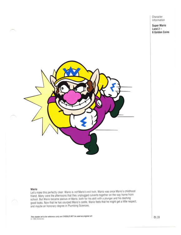 Nintendo Character Guide (1993)