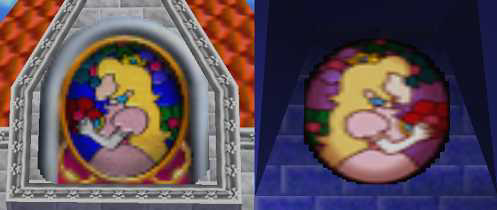 Princess Peach stained glass