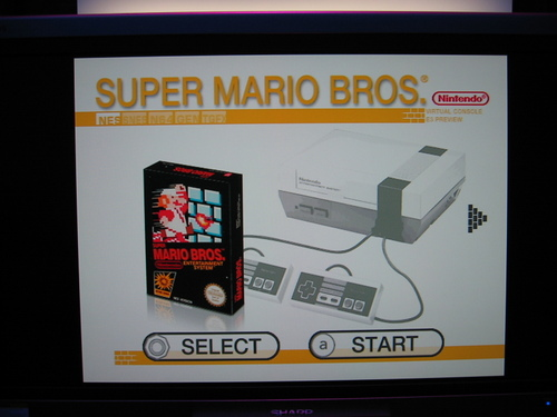 Virtual Console: Super Mario Bros.