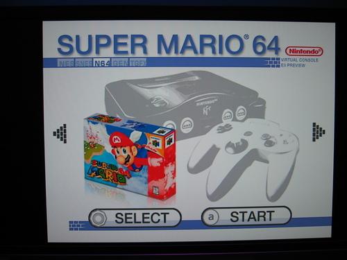 Virtual Console: Super Mario 64