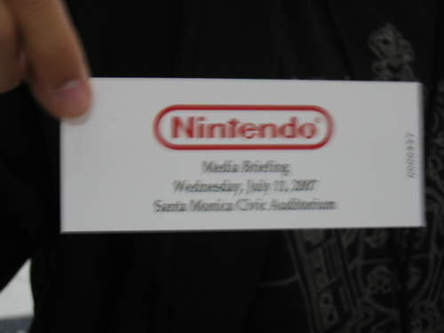 Nintendo Media Briefing Ticket