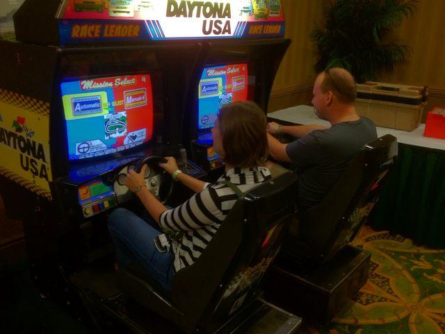 Brad and Barbara Play Daytona USA