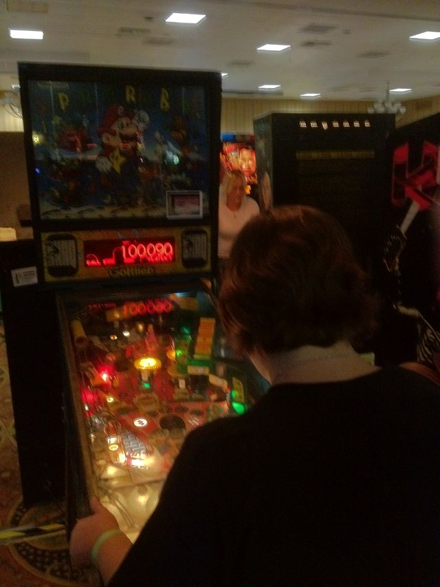 Nicole plays Super Mario Bros. Pinball