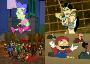 TV characters meet video games