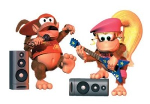 Diddy Kong and Dixie Kong rock out