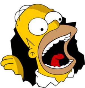 Homer eats