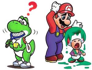 Yoshi, Mario, and Toad
