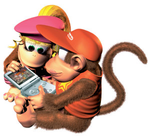 Diddy Kong plays Game Boy