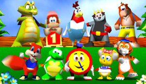 The cast of Diddy Kong Racing
