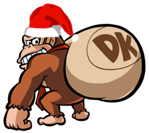 Donkey Kong plays Santa Claus