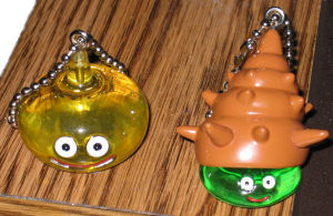 Dragon Quest slime keychains