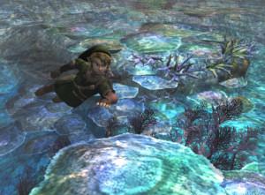 Link swims