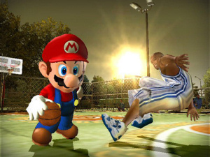 Mario plays ball