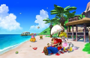 Mario on the beach
