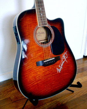 Miyamoto-signed guitar