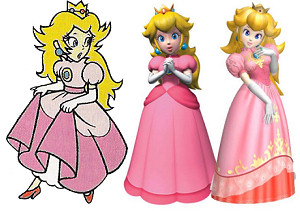 Princess Peach through the years
