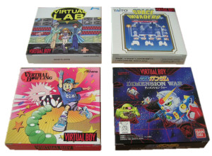 The rarest Virtual Boy games of all: Virtual Lab, Space Invaders, Virtual Bowling, and Gundam Dimension War