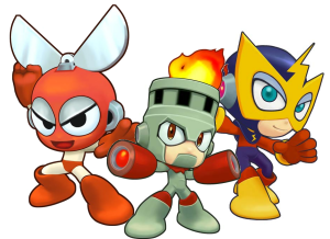 Cut Man, Fire Man, and Elec Man