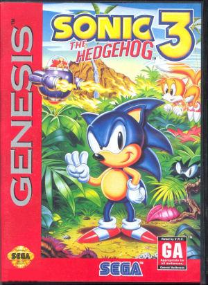 onic the Hedgehog 3 box