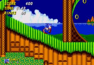 Sonic the Hedgehog running fast