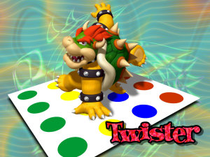 Bowser plays Twister
