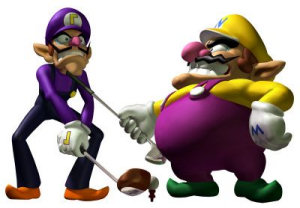 Wario and Waluigi play golf