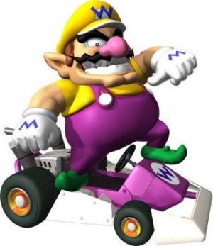 Wario in his kart
